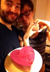 Red heart cake for your lover
