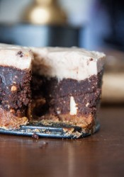 Chestnut chocolate cake