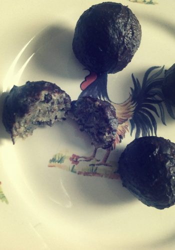 Root parsley hemp seed bonbons