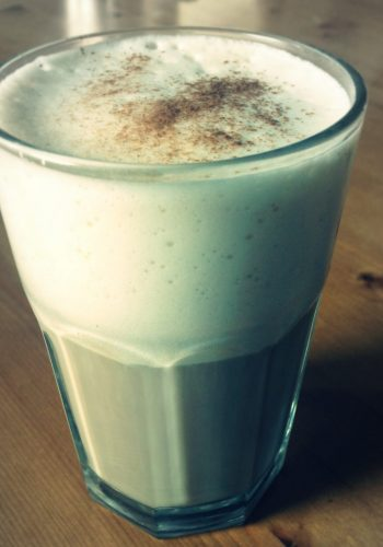 Grain coffee with soy milk and stevia