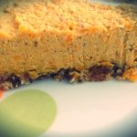 Piece of raw butternut squash pie