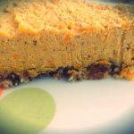 Piece of raw butternut squash pie
