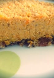 Raw butternut squash pie
