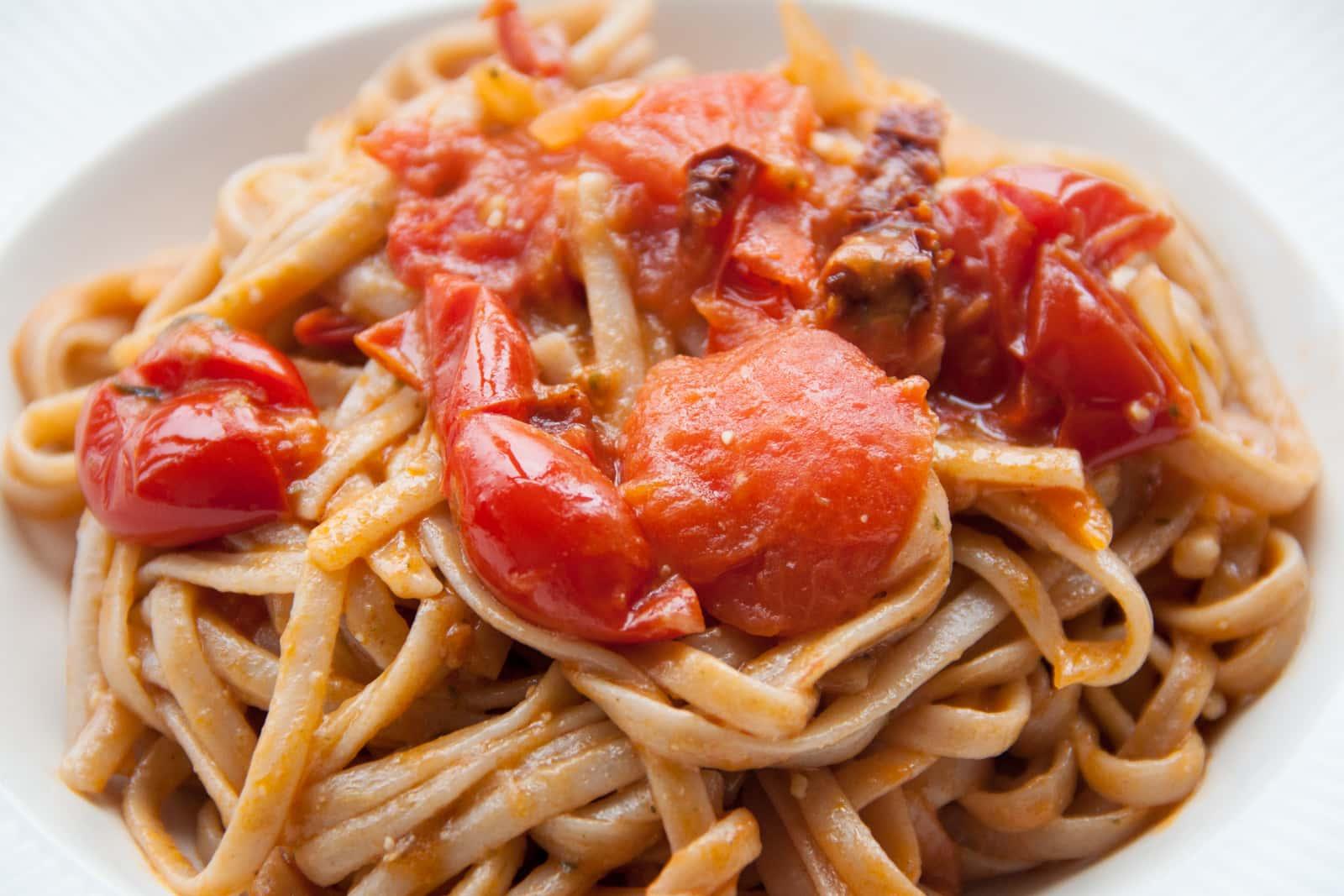 Gluten free pasta al pomodoro